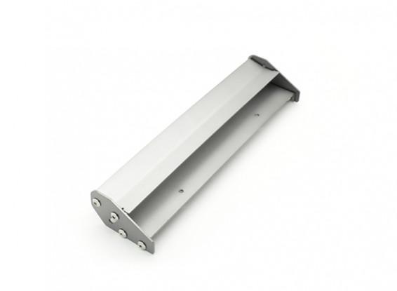 1/10 Scale Aluminum Double Rear Adjustable Wing (Gunmetal) 168 x 40mm