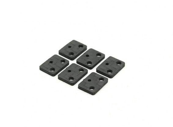 RJX X-TRON 500 Servo Mounting Plates (Optional) # X500-50007 (6pcs)