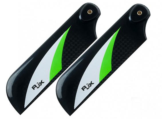 RJX Vector Green 105mm Carbon Fiber Tail Blades