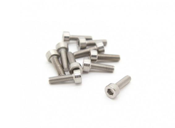 Titanium M3 x 10 Sockethead Hex Screw (10pcs/bag)