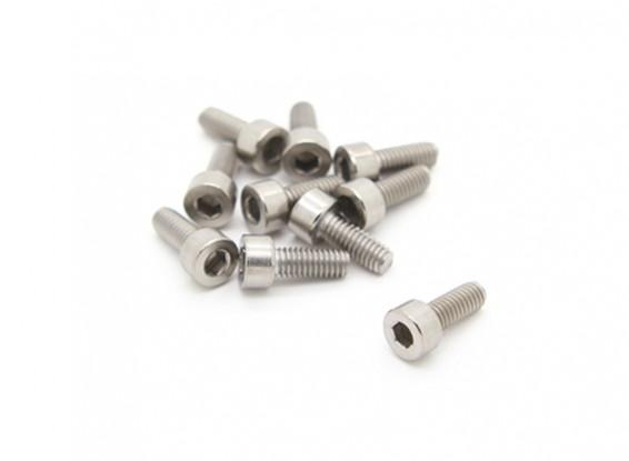 Titanium M4 x 10 Socket Head Hex Screw (10pcs/bag)