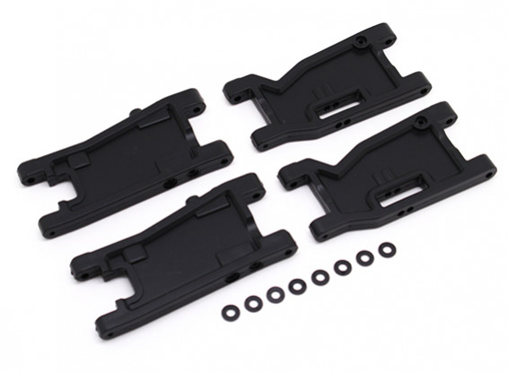 Front and Rear Susp Arms set (4pcs) - BSR Racing BZ-222 1/10 2WD Racing Buggy