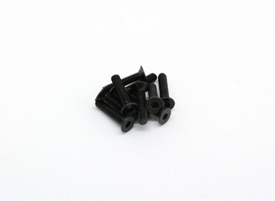 FM3x15mm Hex Countersunk Machine Screws (10pcs) - BSR Racing BZ-222 & BZ-888
