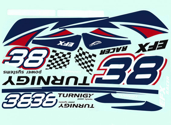 Durafly™ EFX Racer - Decal Set (Red)