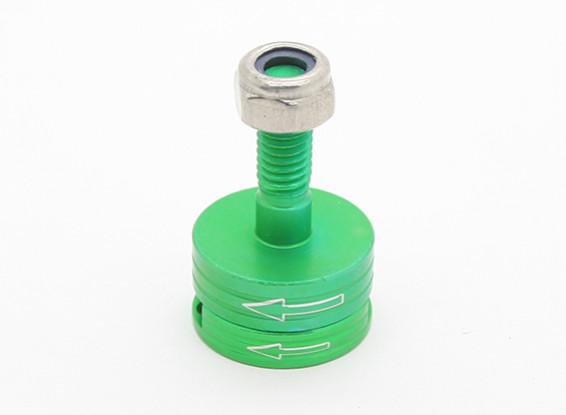 CNC Aluminum M6 Quick Release Self-Tightening Prop Adapter Set - Green (Counter-clockwise)
