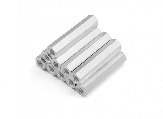 Lightweight Aluminum Hex Section Spacer M3 x 24mm (10pcs/set)