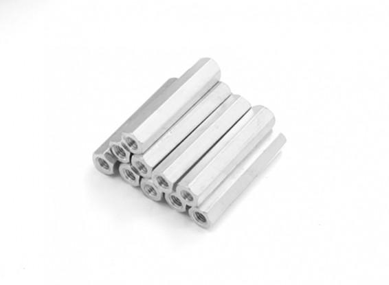 Lightweight Aluminum Hex Section Spacer M3 x 25mm (10pcs/set)