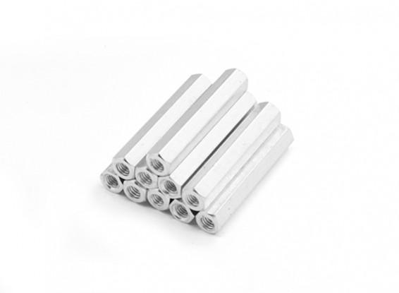 Lightweight Aluminum Hex Section Spacer M3 x 29mm (10pcs/set)