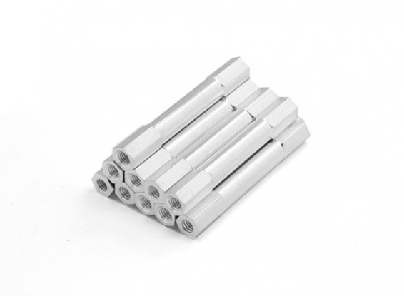 Lightweight Aluminum Round Section Spacer M3 x 38mm (10pcs/set)
