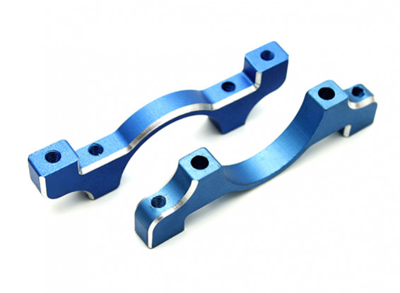 Blue Anodized CNC Aluminum Tube Clamp 22mm Diameter