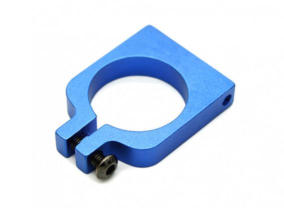 Blue Anodized Single Sided CNC Aluminum Tube Clamp 20mm Diameter