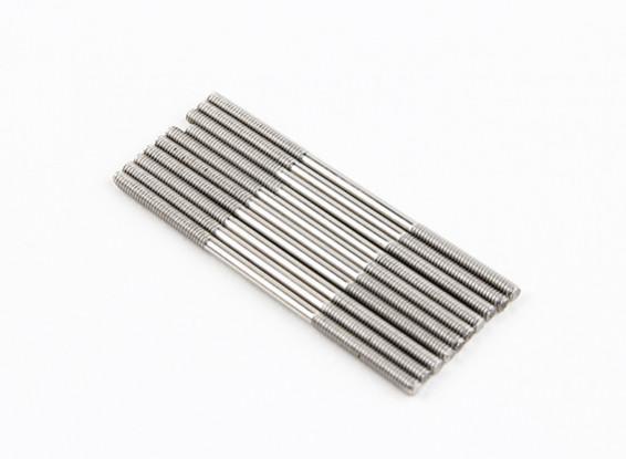 M2x45mm Stainless Steel Push Rods (LH & RH Threaded) (10pcs)