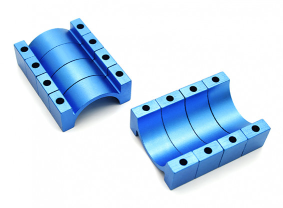 Blue Anodized CNC 10mm Aluminum Tube Clamp 20mm Diameter