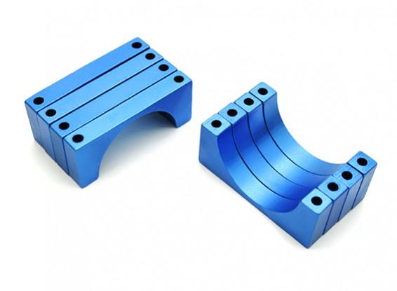 Blue Anodized CNC 6mm Aluminum Tube Clamp 30mm Diameter