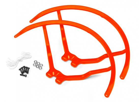 8 Inch Plastic Universal Multi-Rotor Propeller Guard - Orange (2set)