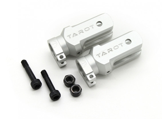 Tarot 450 Pro/Pro V2 DFC H/D Main Blade Grip Assembly (Large Bearing) - Silver (TL48013-01)
