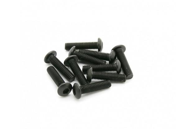 BSR Racing M.RAGE 4WD M-Chassis - M3x12mm Buttonhead Screw Sets (10pcs)
