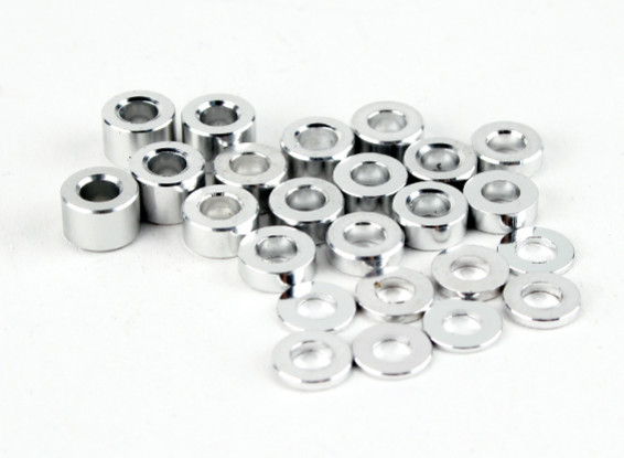 BSR Racing M.RAGE 4WD M-Chassis - Option Alu. Spacer Set (0.5/1/2/3/4mm)