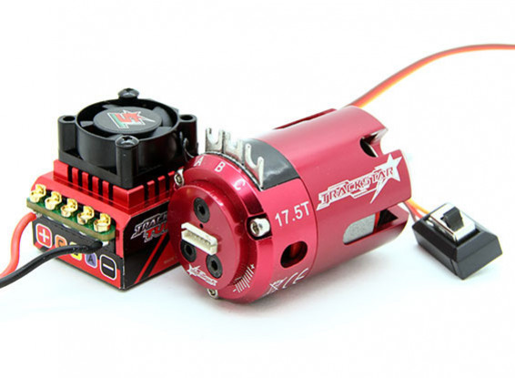 TrackStar ROAR approved 1/10th Stock Class Brushless ESC and Motor Combo (17.5T)