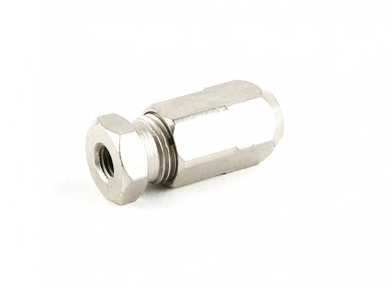 """HobbyKing™ Stainless Steel Marine Flexi-Shaft Adapter 1/4""""UNF-5mm"""