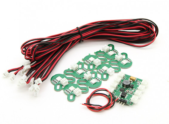 X-Cam Multi-Rotor LED Navigation Set with Low Voltage Alarm and RC Control