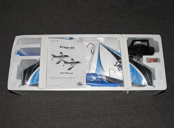 SCRATCH/DENT Stinger 64 EDF Sport Jet 700mm Blue EPO (RTF - Mode 1)