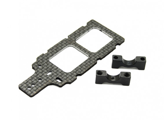 Carbon FPV Transmitter Mount with 8mm Boom Clamp
