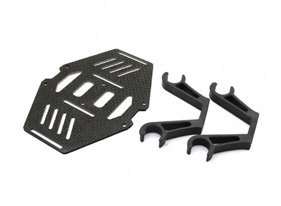 Carbon Multi-Rotor Dual Battery Mount Suits 12mm Booms