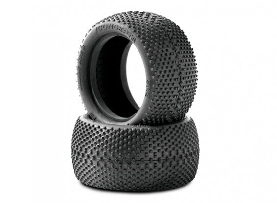 JCONCEPTS Double Dee's 1/10th Buggy Rear Tyres - Black (Mega Soft) Compound
