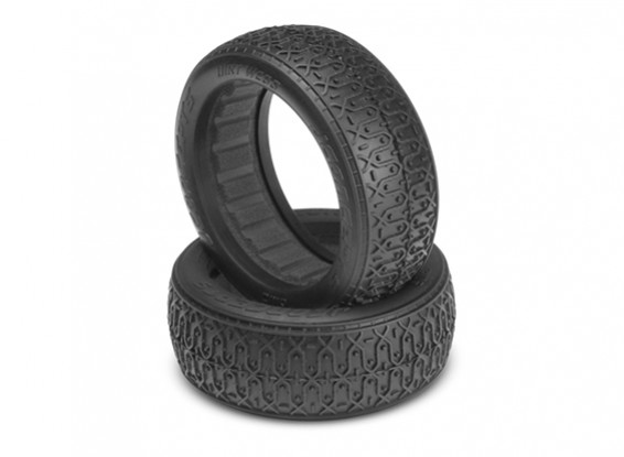JCONCEPTS Dirt Webs 1/10th 4WD Buggy 60mm Front Tires - Silver (Indoor Super Soft) Compound