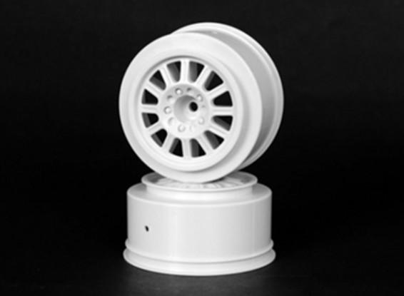 JCONCEPTS Hazard 1/10th Truck Front Wheel - White