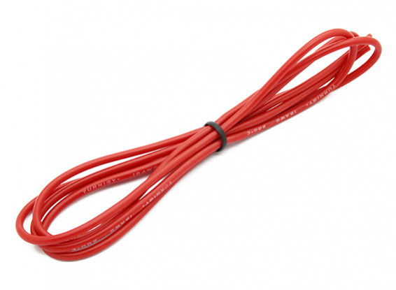 Turnigy High Quality 18AWG Silicone Wire 1m (Red)