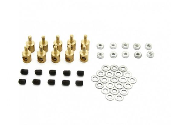 Brass Linkage Stopper For 3mm Pushrods (10pcs)