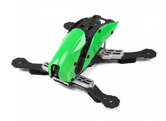 Tarot TL250C Space Through Machine FPV Full Carbon Fiber (Green) Frame Only