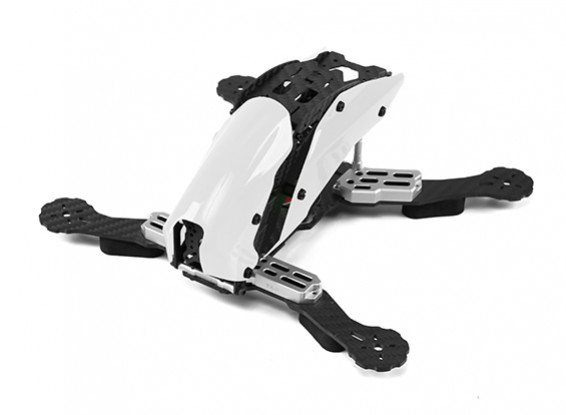 Tarot TL250C Space Through Machine FPV Full Carbon Fiber (White) Frame Only
