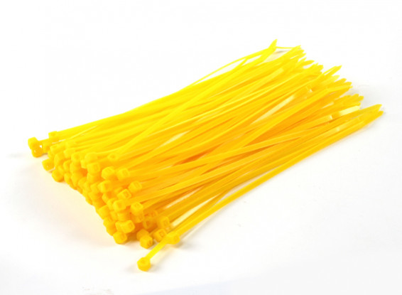 Cable Ties 200mm x 4mm Yellow (100pcs)