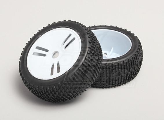 1/8 Buggy Wheel & Tyre 17mm Hex (2pc)