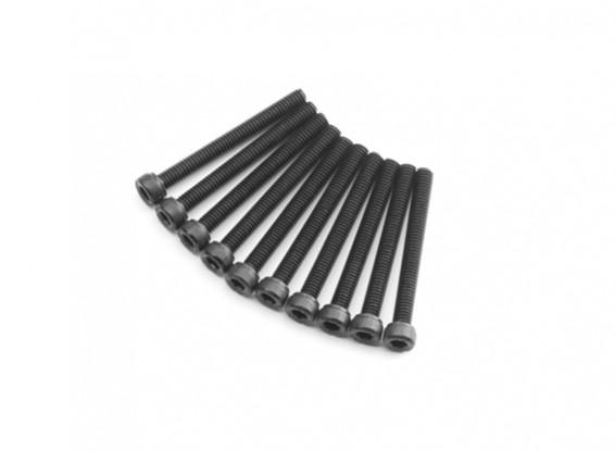 Screw Socket Head Hex M4 x 36mm Machine Steel Black (10pcs)