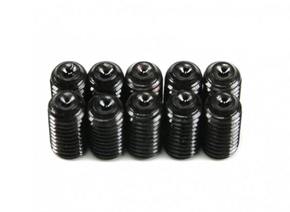 Screw Grub Hex M5 x 10mm Machine Steel Black (10pcs)