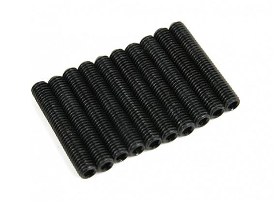 Screw Grub Hex M5 x 30mm Machine Steel Black (10pcs)