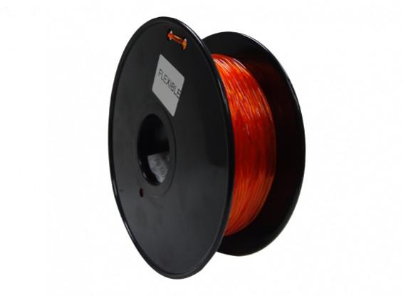HobbyKing 3D Printer Filament 1.75mm Flexible 0.8KG Spool (Orange)