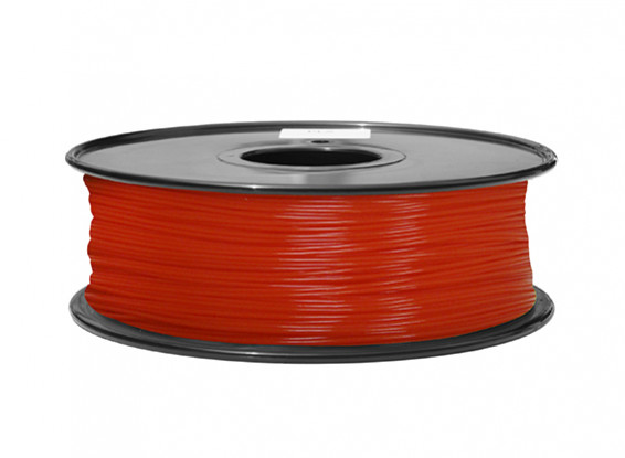 HobbyKing 3D Printer Filament 1.75mm ABS 1KG Spool (Fluorescent Red)