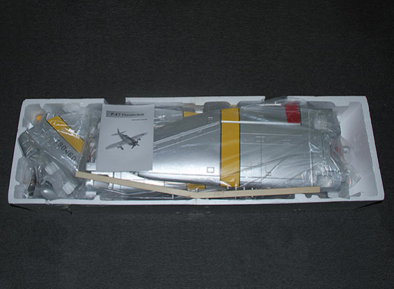 SCRATCH DENT P-47 Hun Hunter XVI with flaps, electric retracts & lights, 1600mm (PNF)