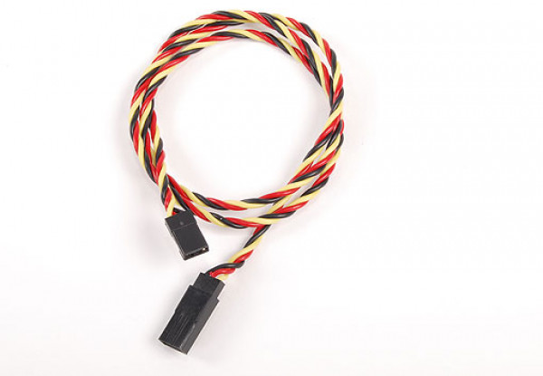 Twisted 60CM Servo Lead Extention (JR) 22AWG