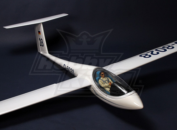 ASW 28-18 2.53m AMS Scale Glider Kit w/ UltraDetail Pilot and Cockpit