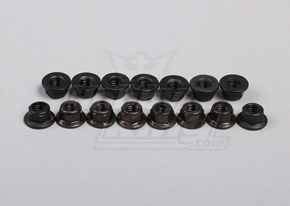 Hex Flange Nuts M5 (15pcs/bag) - 1/5 4WD Big Monster