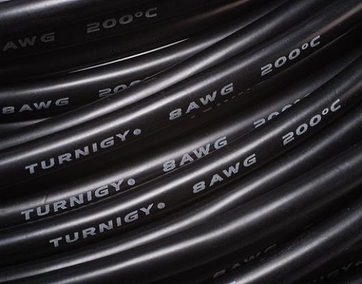 Turnigy Pure-Silicone Wire 8AWG 1m (Black)