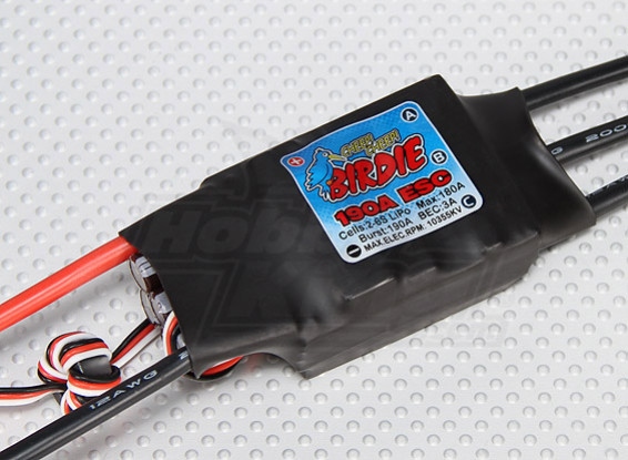 Birdie 190A Brushless ESC w/ 3A BEC