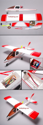 Busy-Bee Electric airplane W/Motor,Servo,ESC (Great for FPV)