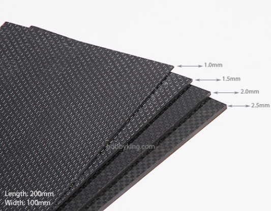 Woven Carbon Fiber Sheet 200x100 (2MM Thick)